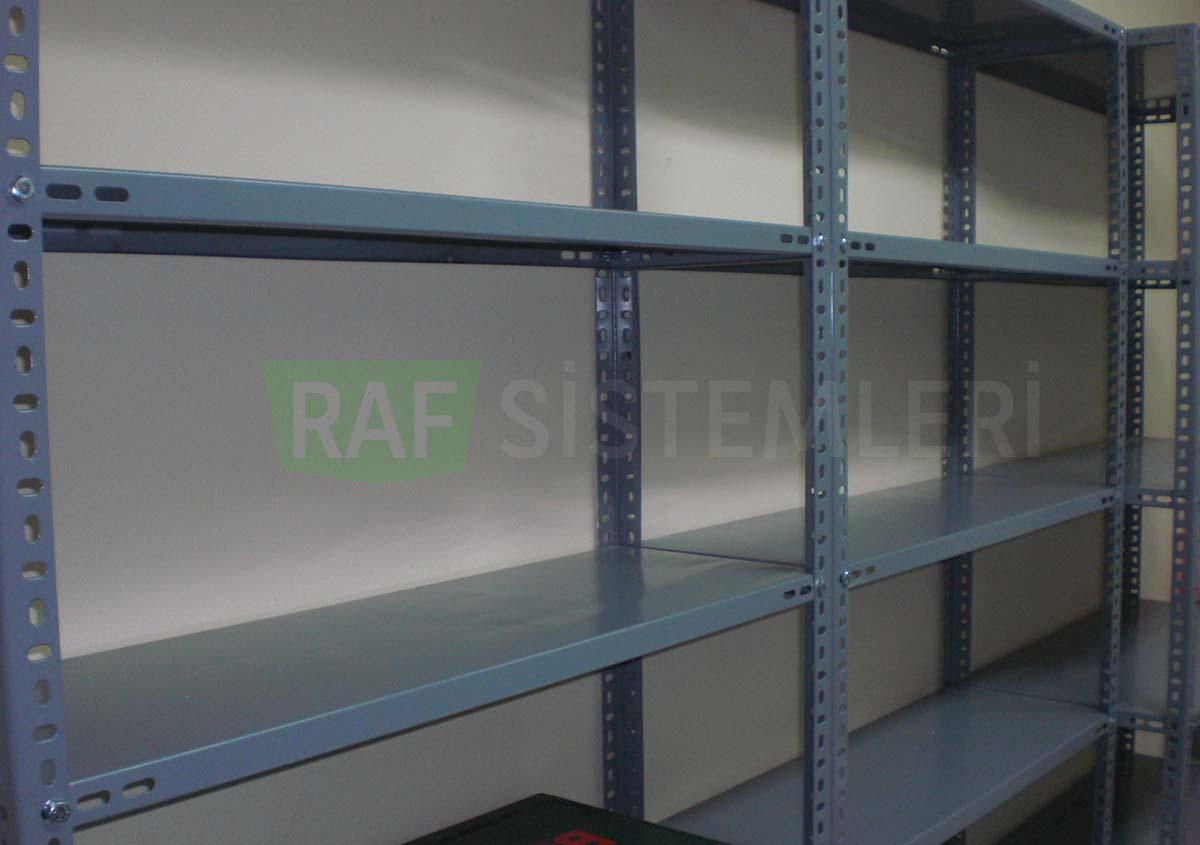 civatalı çelik raf sistemi